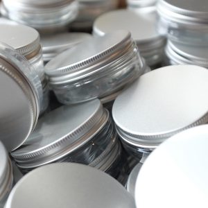 50ml pots for use with skincare products.