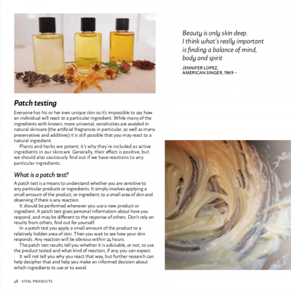 A page from Vital Skincare by Laura Pardoe